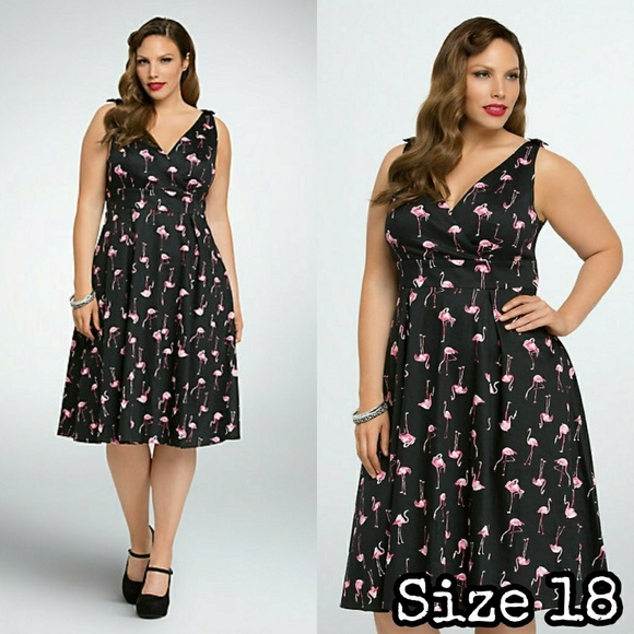 Torrid Retro Chic Flamingo Dress NWT plus size 18 NWT